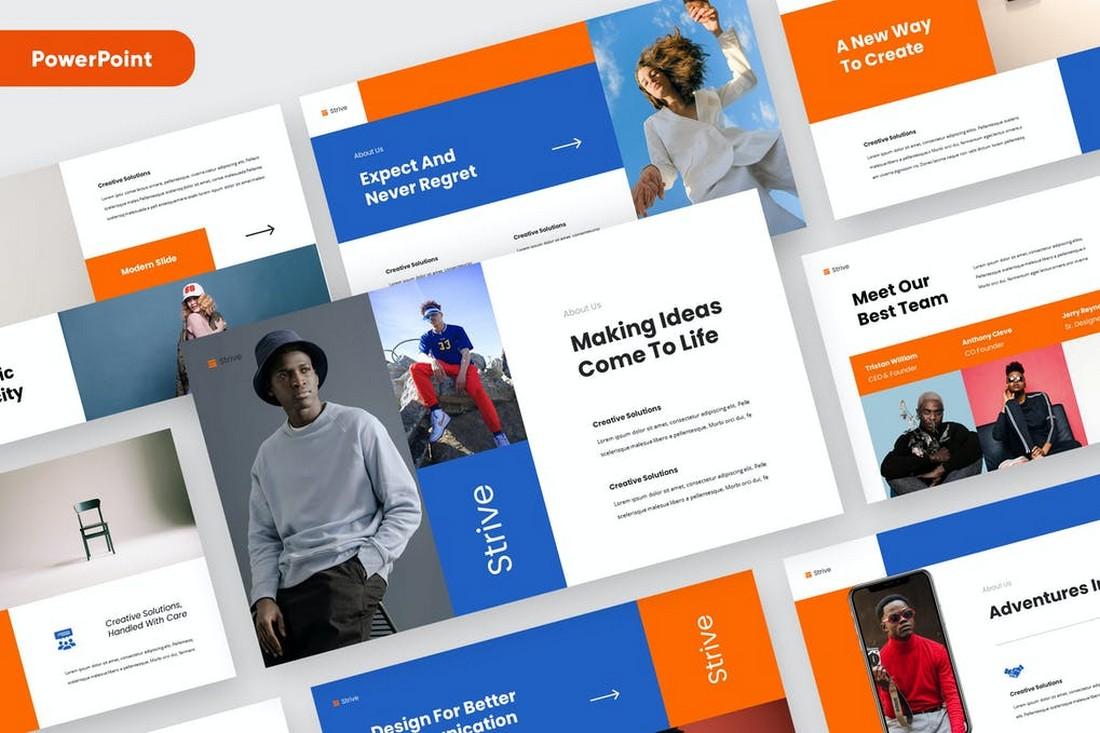 STRIVE - Creative Startup & Studio Powerpoint Template