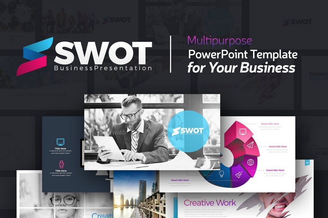 20 best powerpoint templates of 2018 design shack swot is a powerpoint template for business and corporate presentations it comes with 111 unique slides 112 master slide layouts and in 20 different color toneelgroepblik Gallery