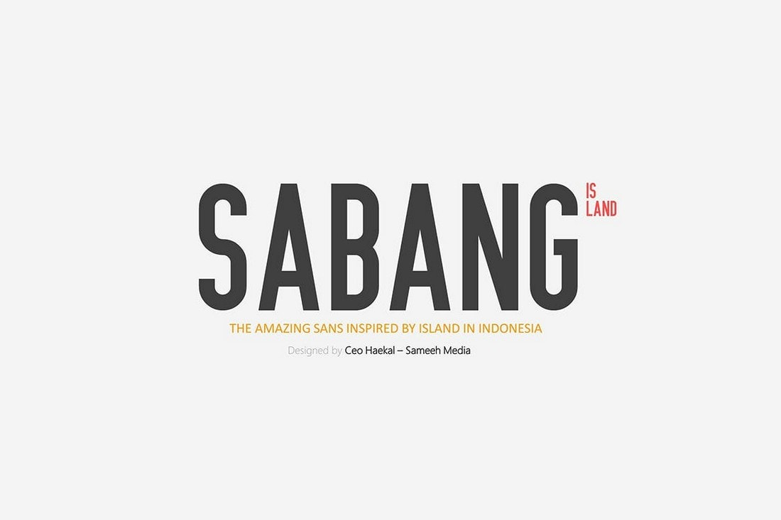 Sabang Island - Narrow Font For Signs
