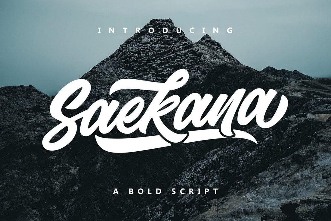 Saekana - Script Cursive Font