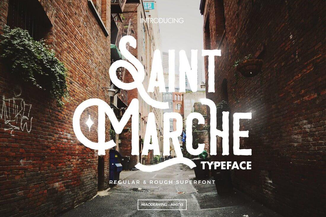 Saint-Marche 60+ Best Big, Poster Fonts of 2019 design tips