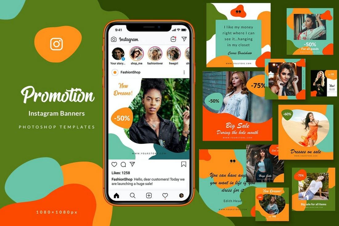 Sale Promotion Instagram Banner Templates