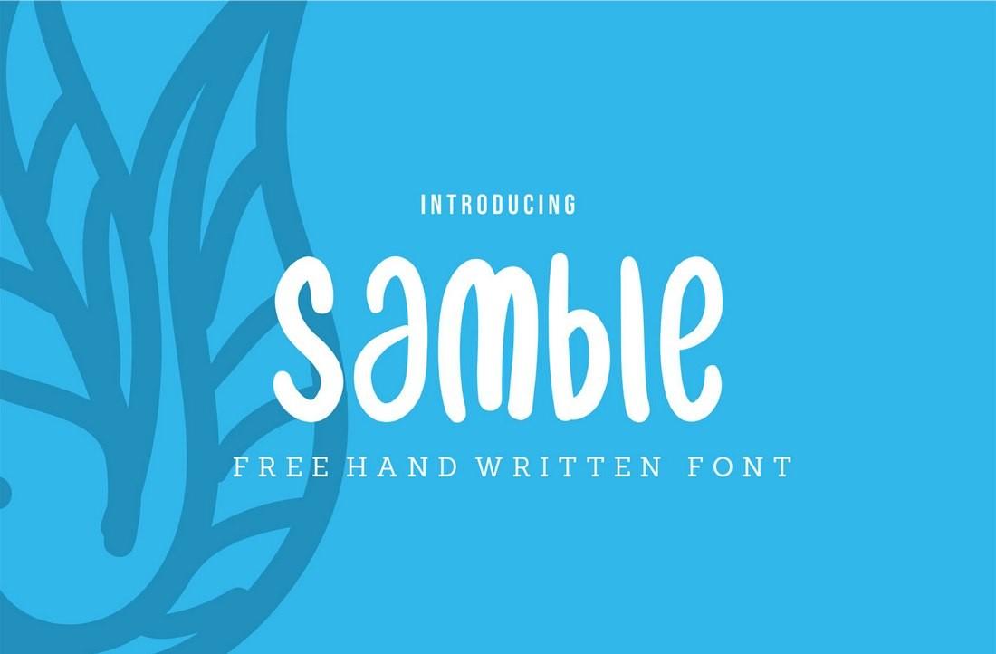 Samble - Free Casual T-Shirt Font