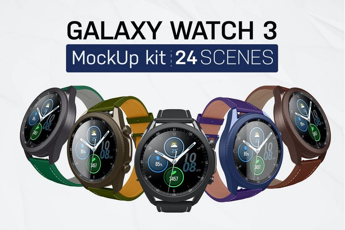Samsung Galaxy Watch 3 Mockups