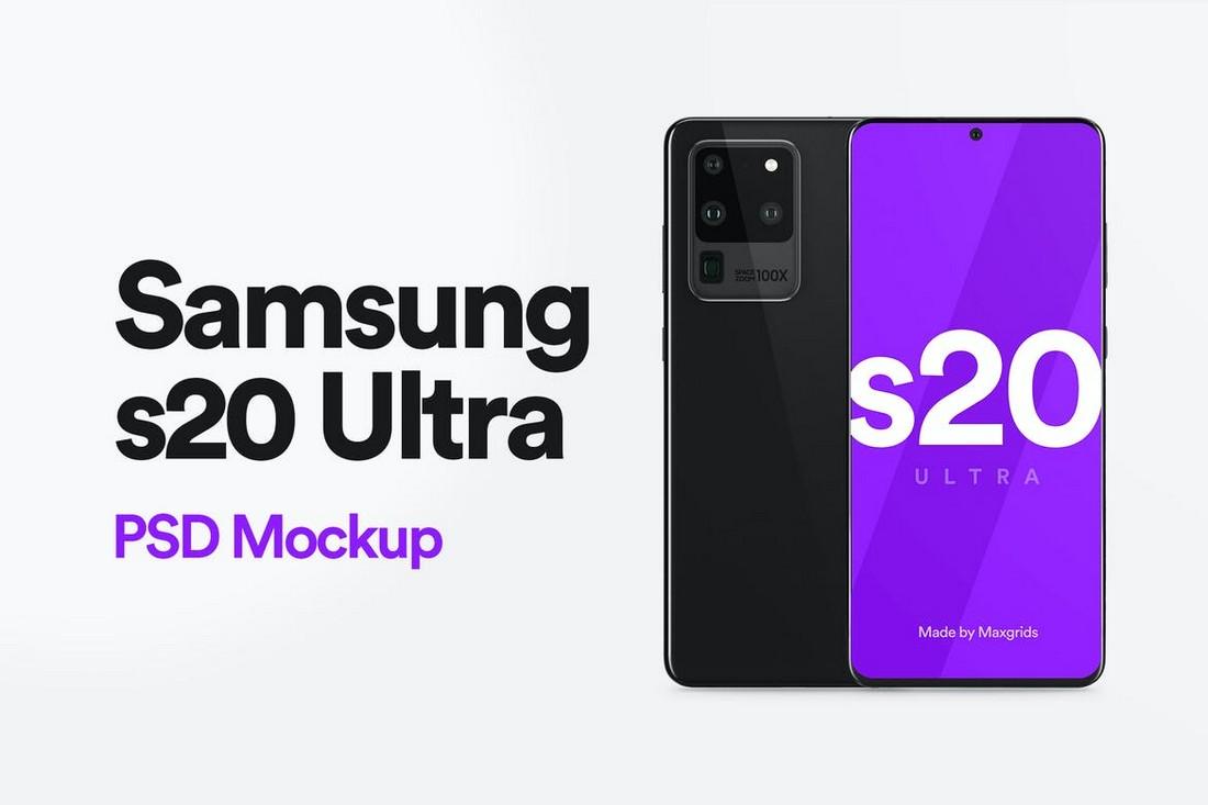 Samsung S20 Ultra Mockup Template