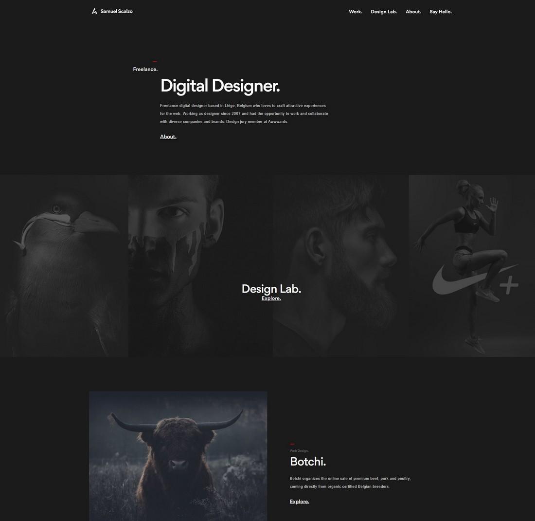 Samuel-Scalzo 10 Best Graphic Design Portfolio Examples + Templates design tips