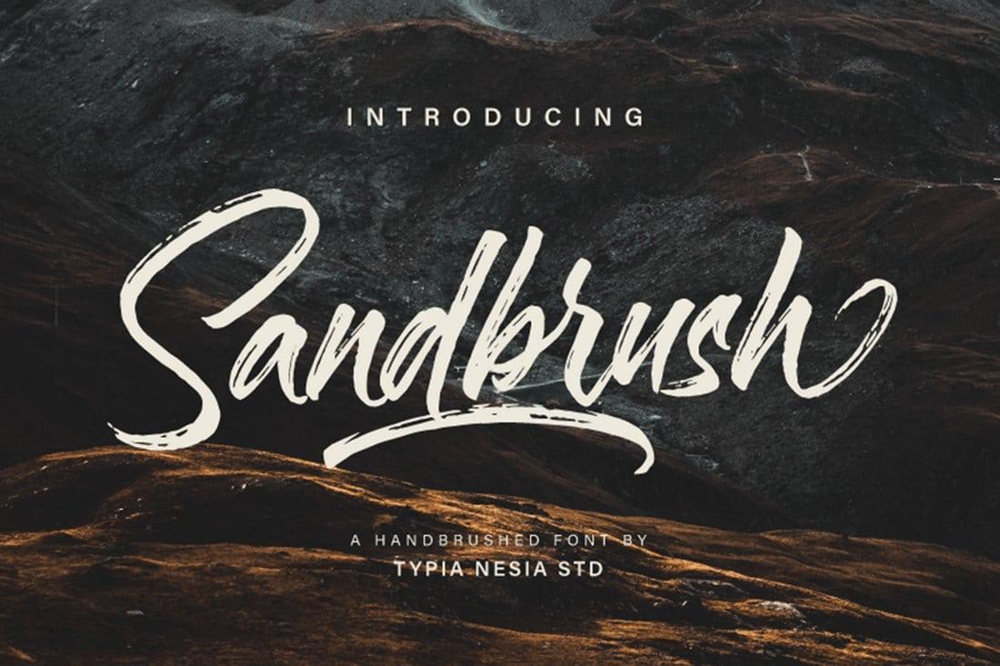 Sandbrush Script polices