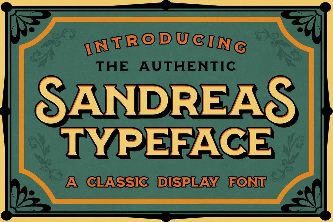Sandreas-Retro-Tattoo-Font 20+ Best Tattoo Fonts & Lettering design tips