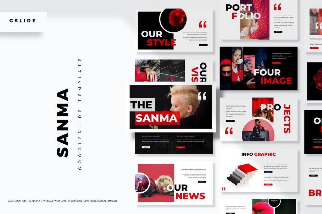 Sanma - Stylish Google Slides Template