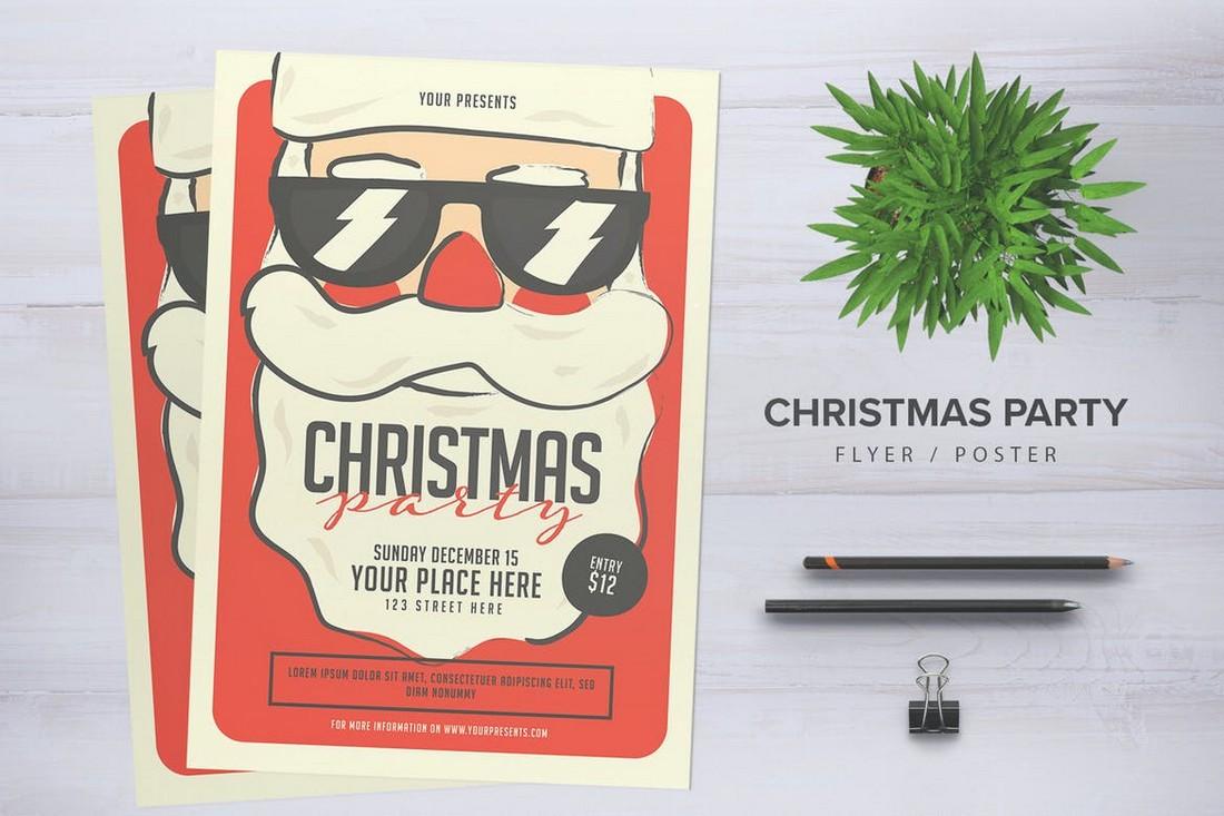 Santa X-Mas Party Flyer Template