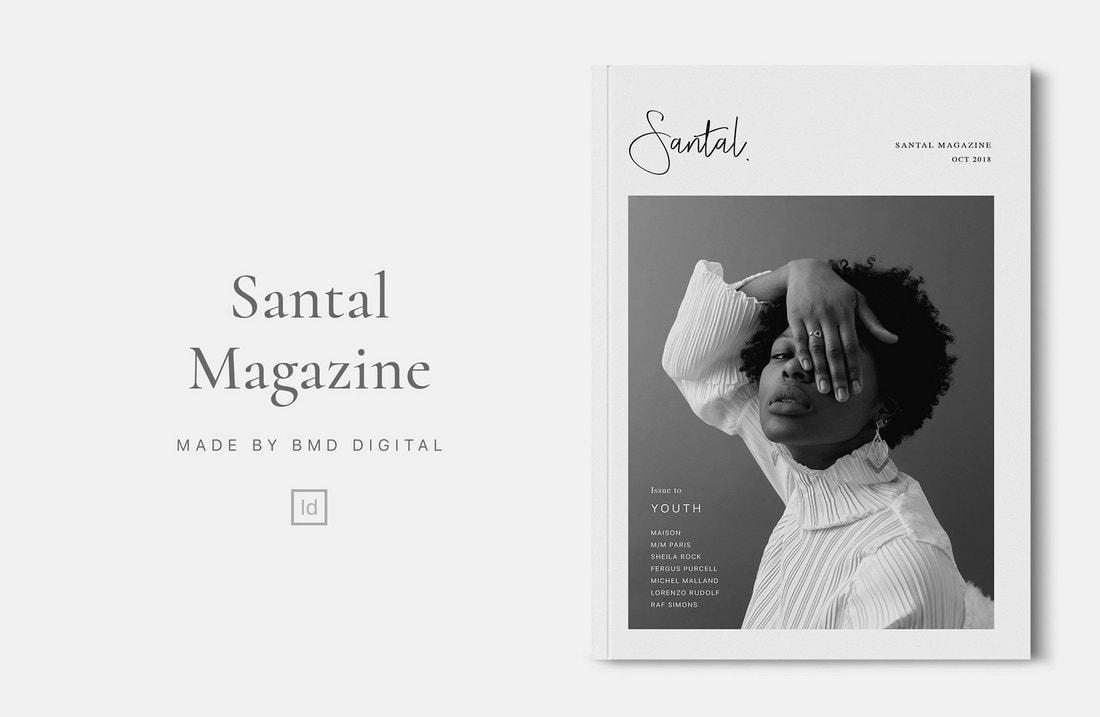 Santal-Free-InDesign-Magazine-Template 30+ Best InDesign Magazine Templates 2021 (Free & Premium) design tips