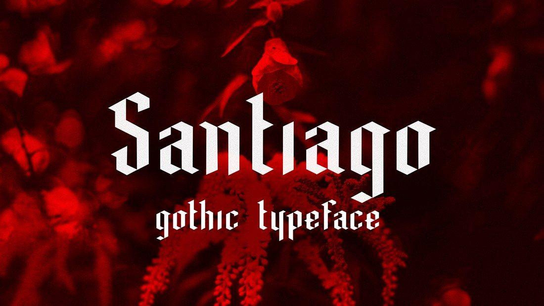 Santiago-Typeface 35+ Best Blackletter Fonts design tips