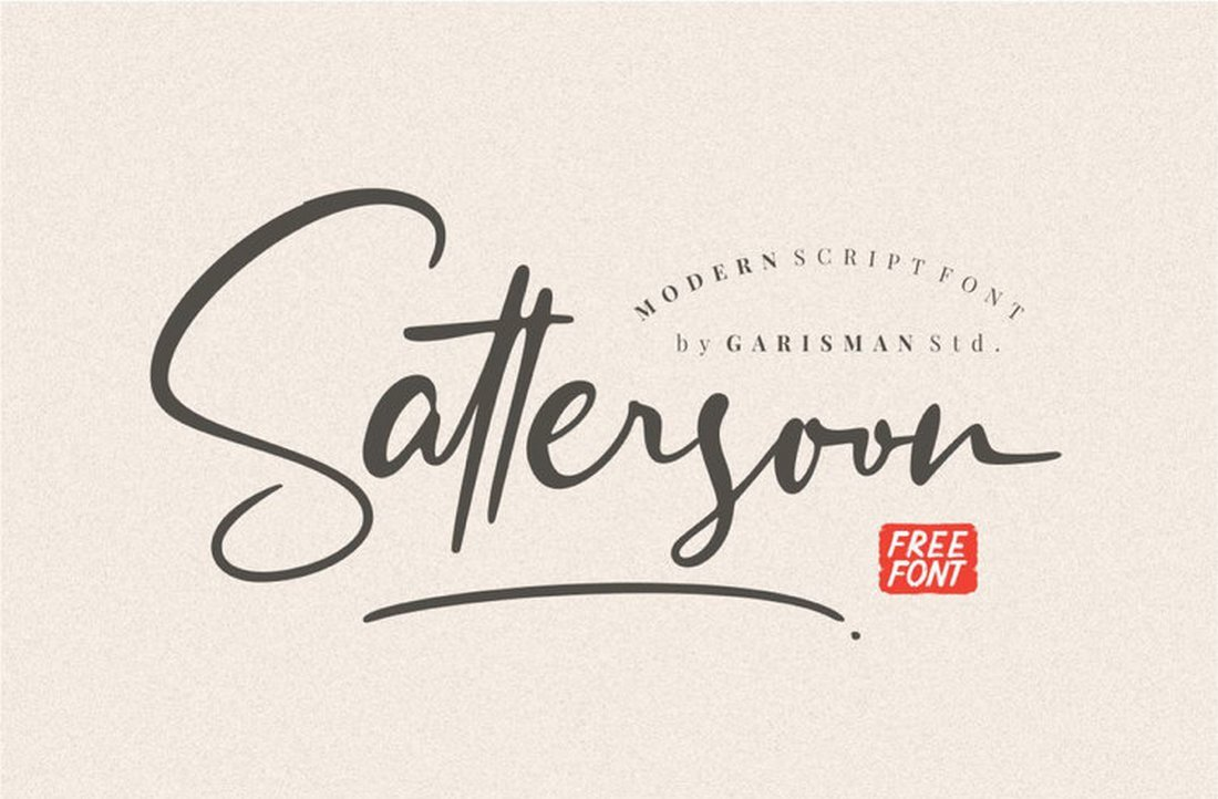 Sattersoon-Free-Handwritten-Font 50+ Best Hand Lettering & Handwriting Fonts 2021 design tips
