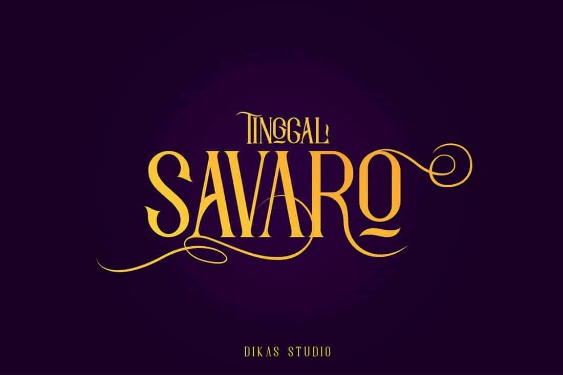 Savaro - Elegant Vintage Typeface