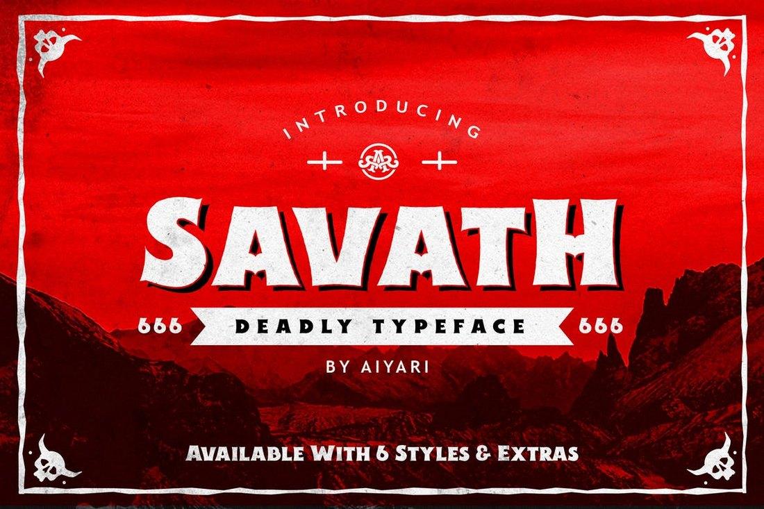 Savath - Halloween Font