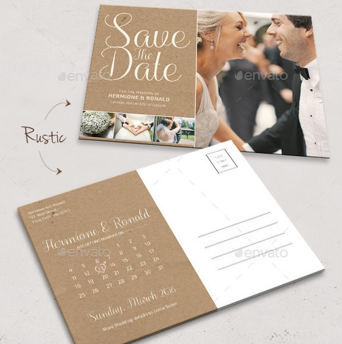 15 gorgeous save the date templates design shack save the date calendar postcard pronofoot35fo Gallery