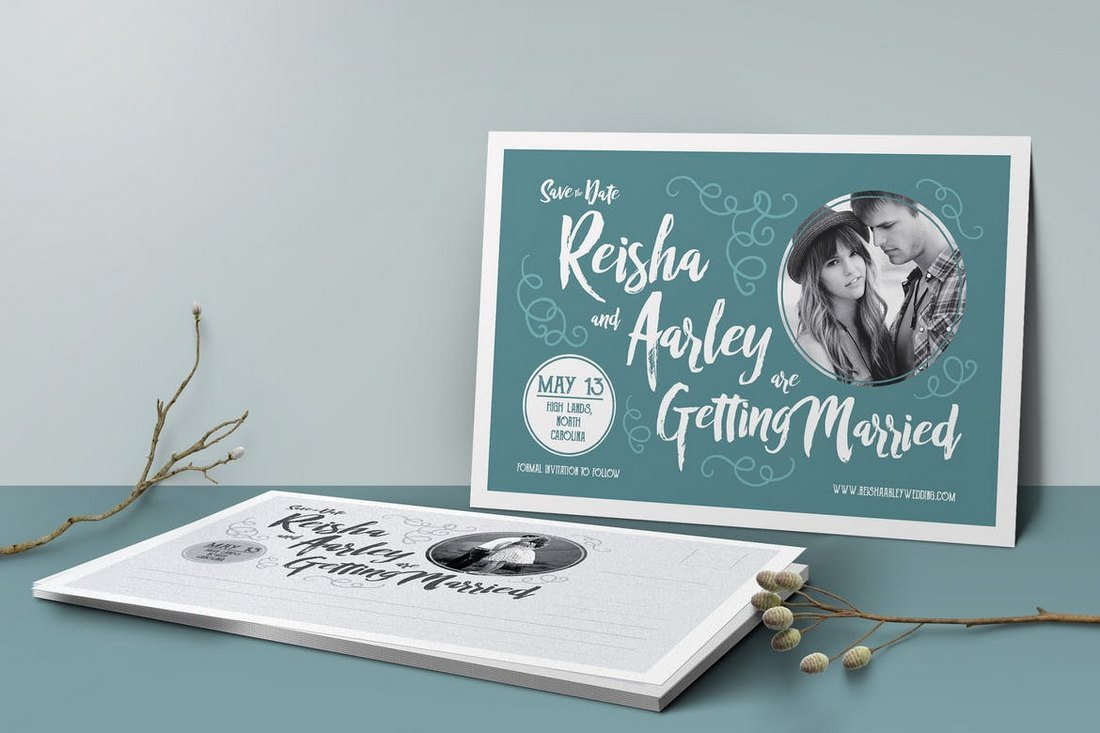 Save-the-Date-Post-Card-Template 15+ Gorgeous Save the Date Wedding Templates design tips