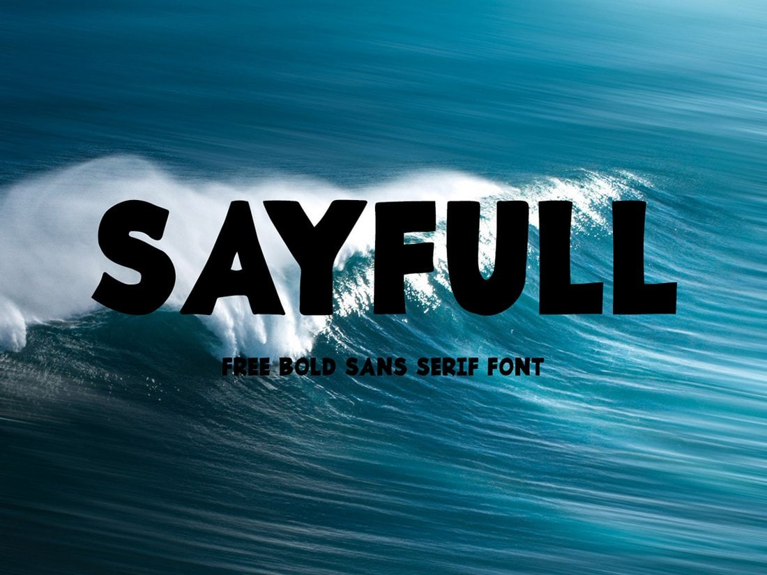 Sayfull-Free-Bold-Sans-Serif-Font 30+ Best Fonts for Posters design tips