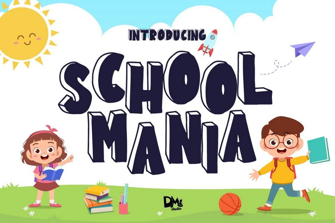 School Mania - Block Cartoon Font