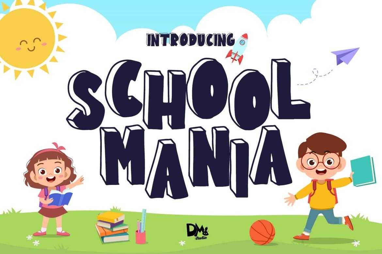 School Mania - Block Crafty Font