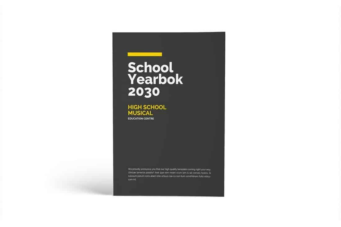 School Year Book InDesign Template