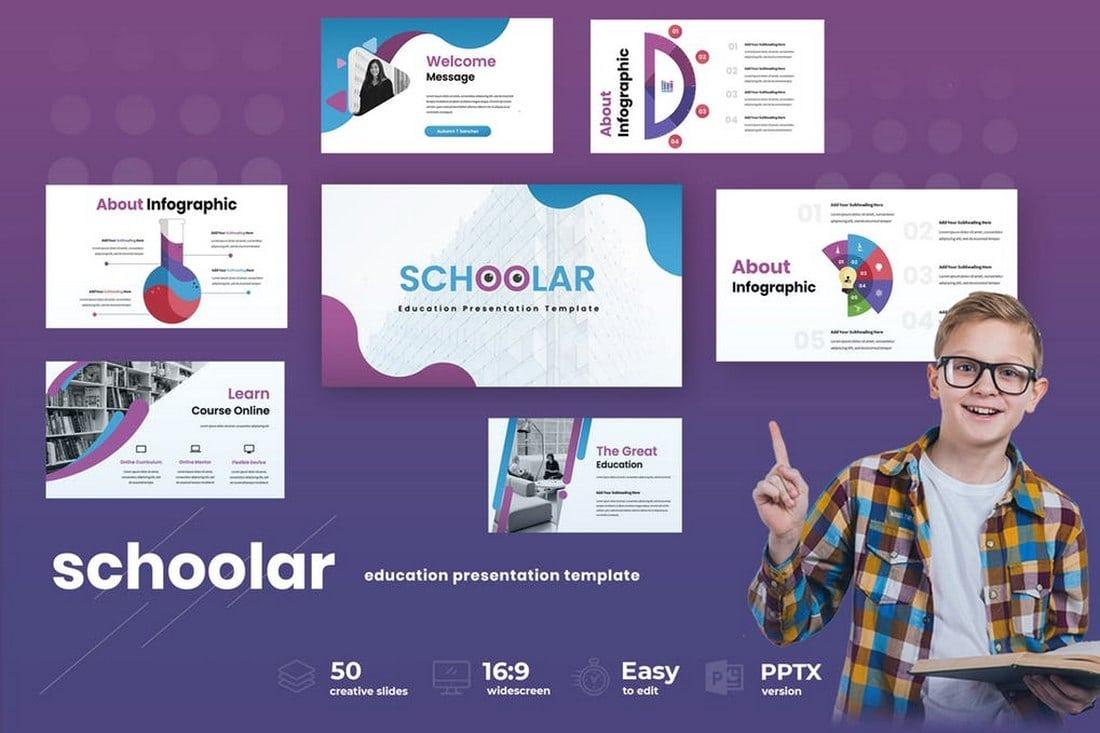 Schoolar - Education Powerpoint Presentation