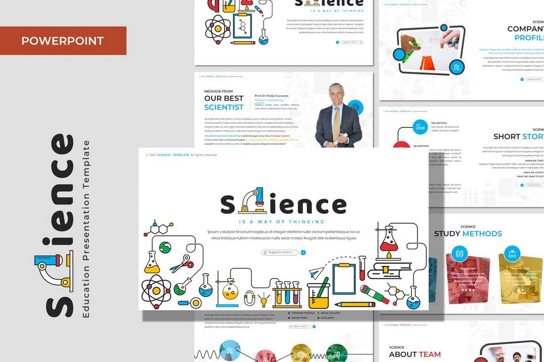 Science - Education Powerpoint Template