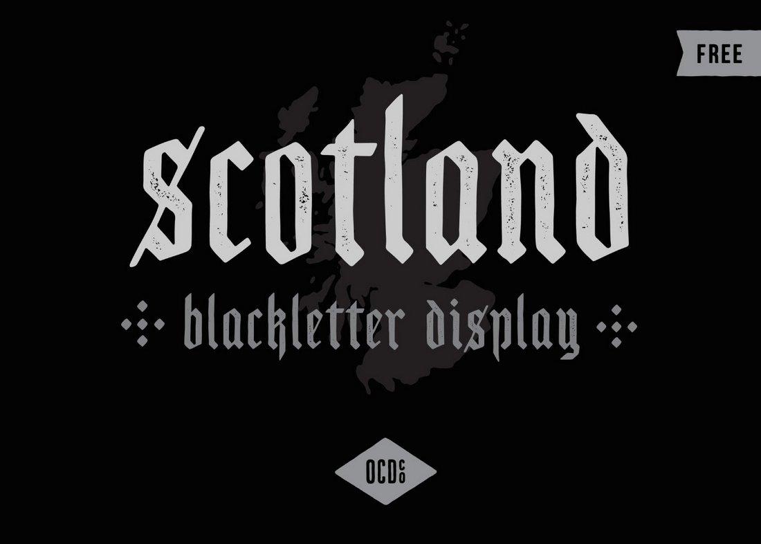 Scotland-Free-Vintage-Blackletter-Font 40+ Best Gothic Fonts design tips