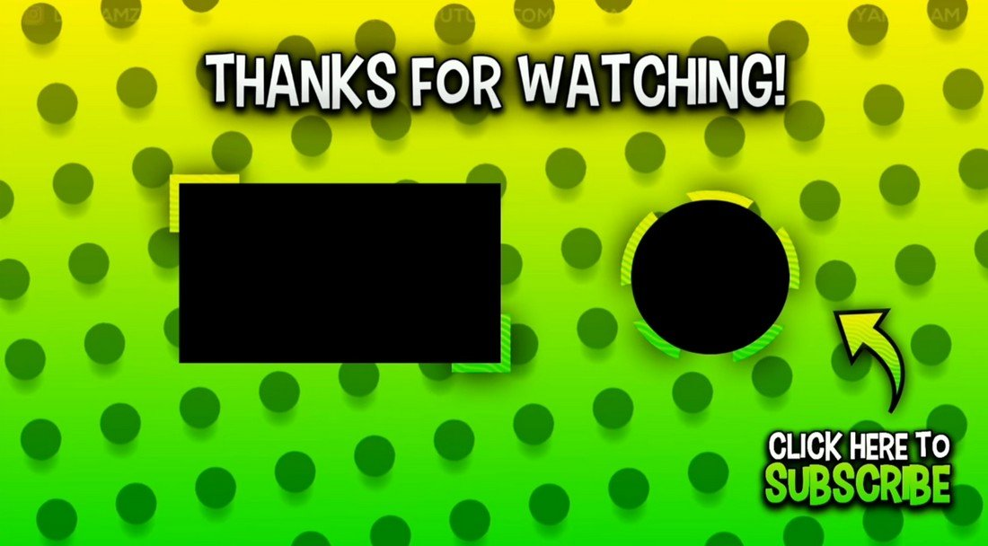 5 Free YouTube End Screen Templates