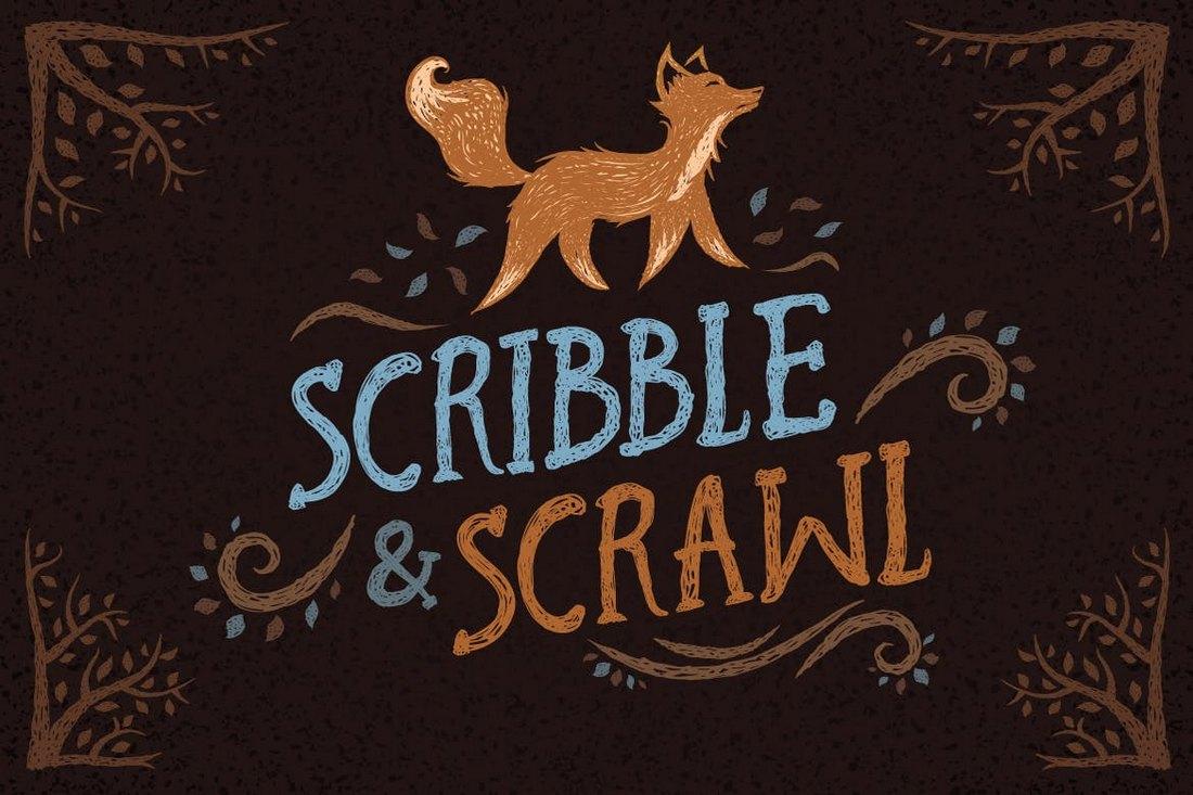 Scribble-Scrawl-Brushes 30+ Best High-Quality Photoshop & Illustrator Brushes design tips