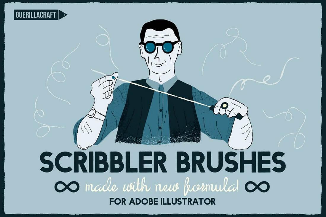 Scribbler-Brushes-For-Adobe-Illustrator 30+ Best High-Quality Photoshop & Illustrator Brushes design tips