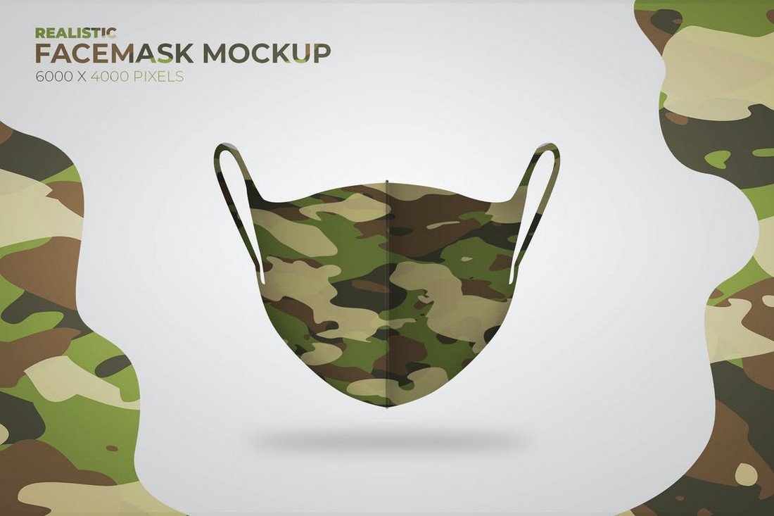 Scuba Face Mask Mockup Template