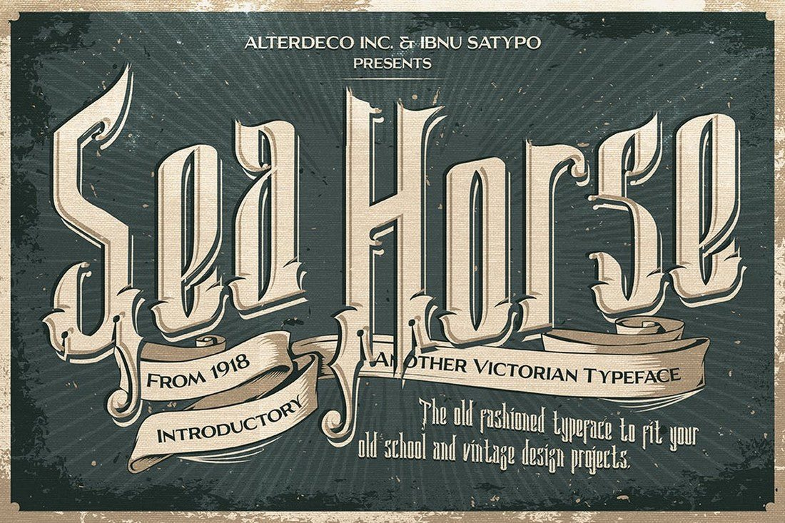Sea-Horse-Typeface 60+ Best Big, Poster Fonts of 2021 design tips