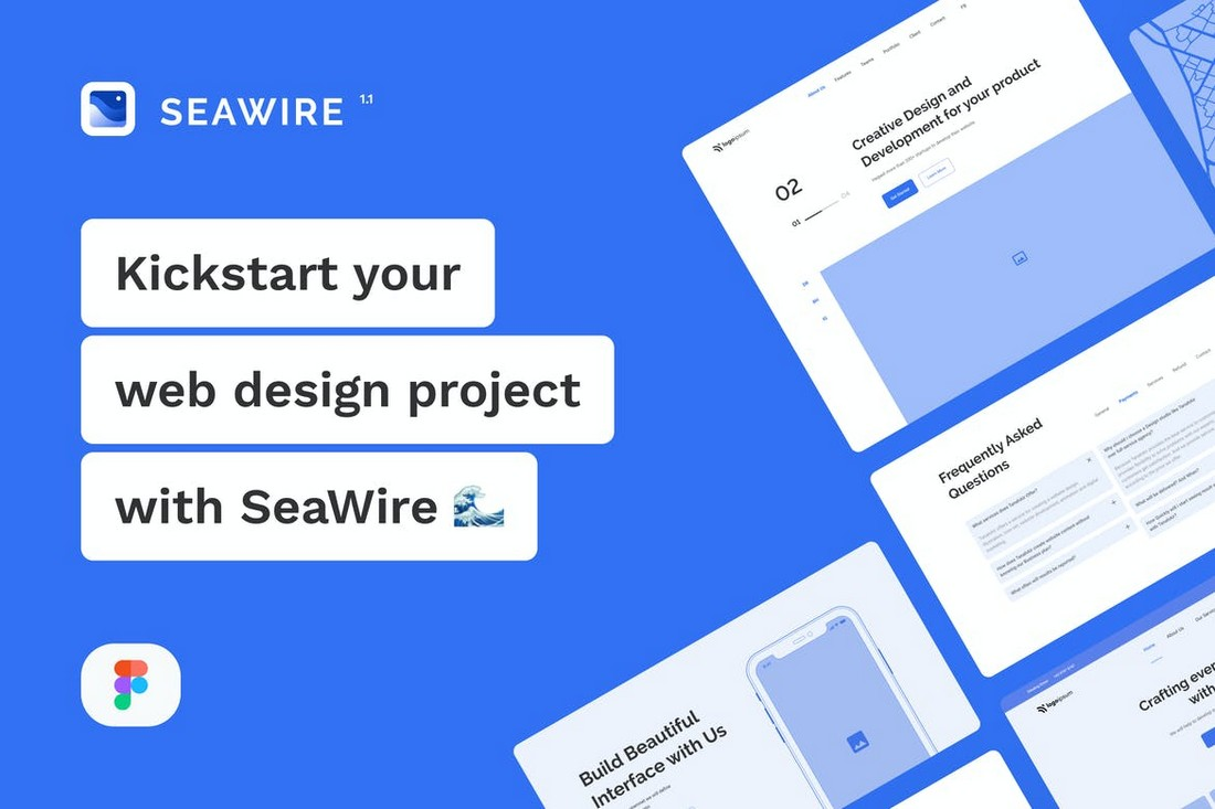 SeaWire - Figma Wireframe Kit for Websites