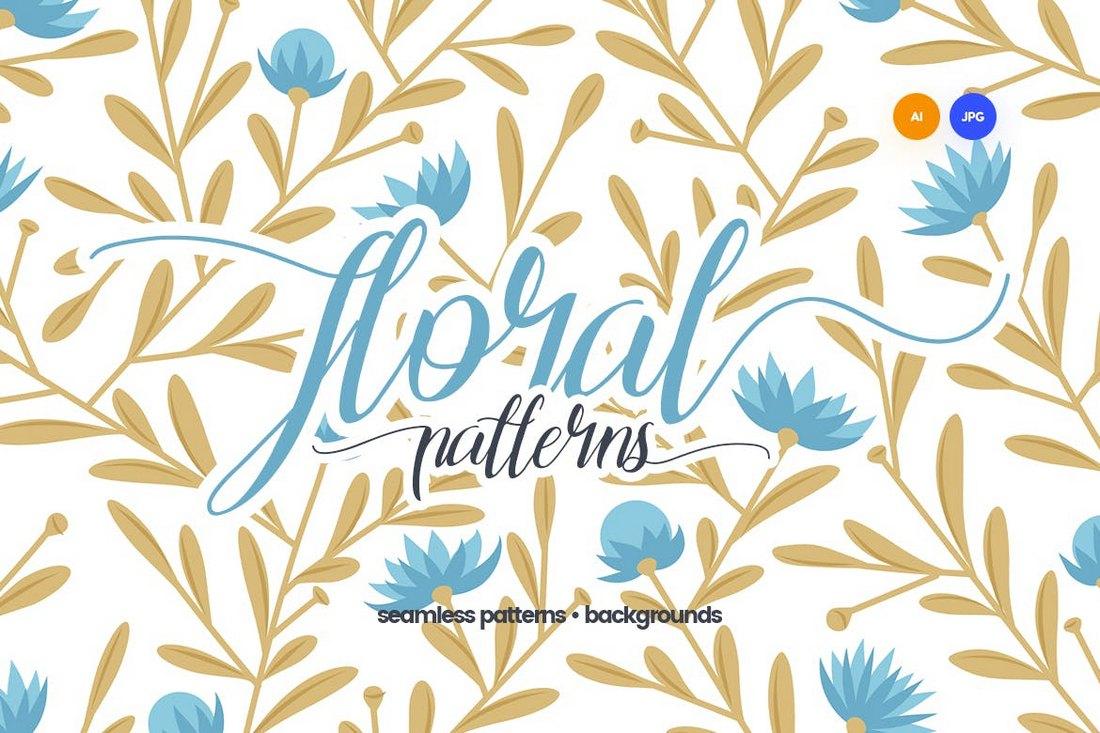Motifs floraux sans soudure et arrière-plans