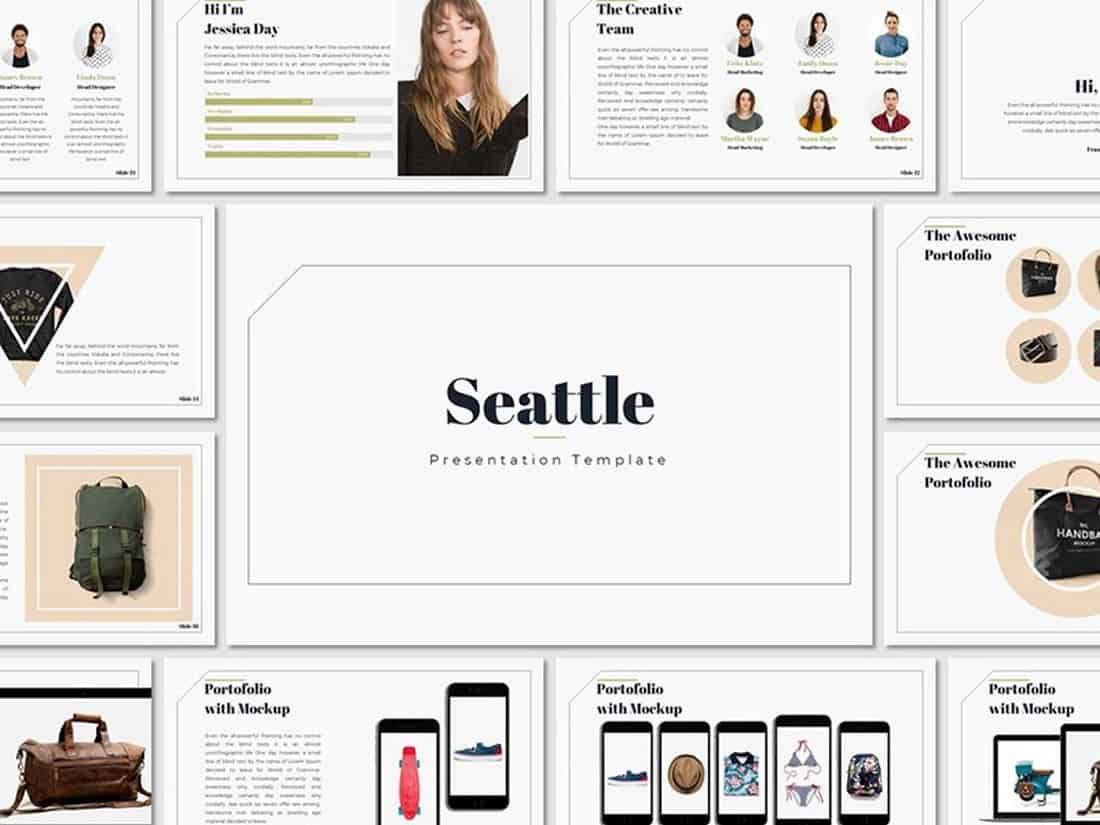 Seattle - Simple PowerPoint Presentation Template