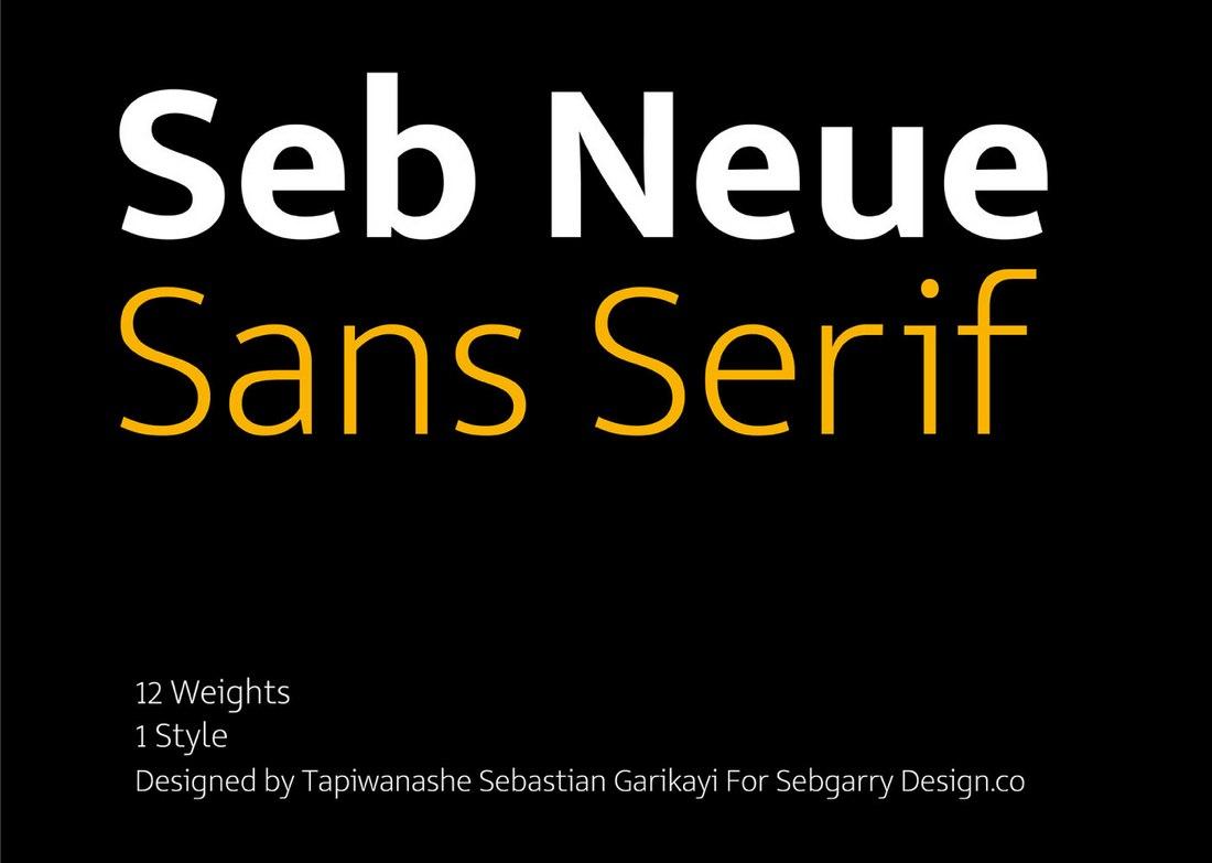 Seb Neue - Free Bold Font Family