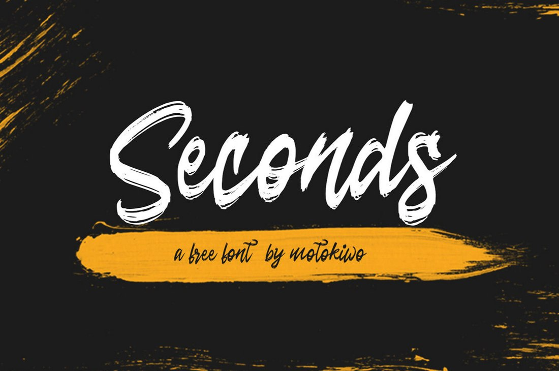 Seconds - Free Rough Brush Script Font