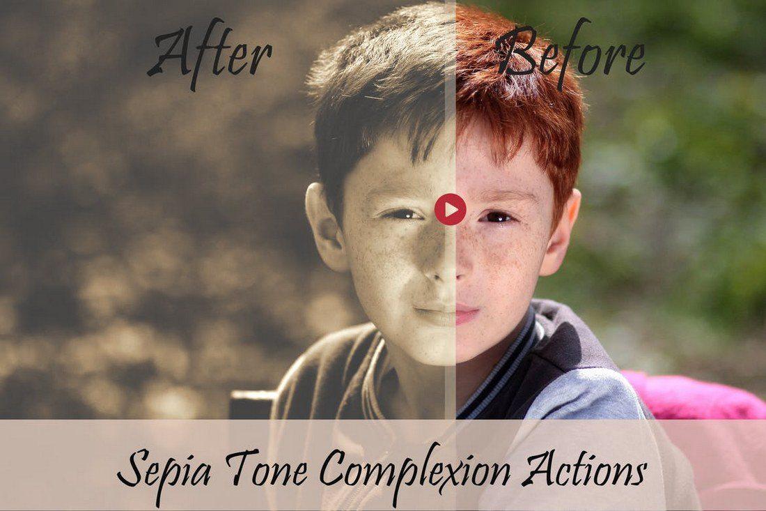 Sepia-PS-Action 20+ Best Portrait Photoshop Actions design tips