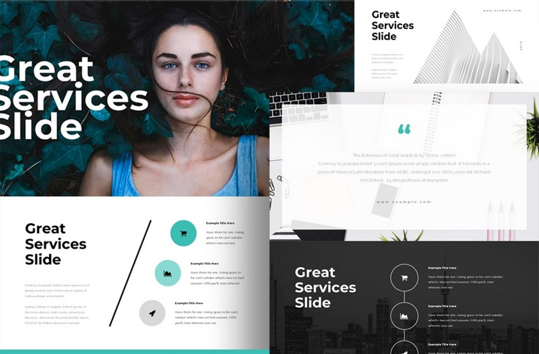 Services - Free Modern Keynote Template