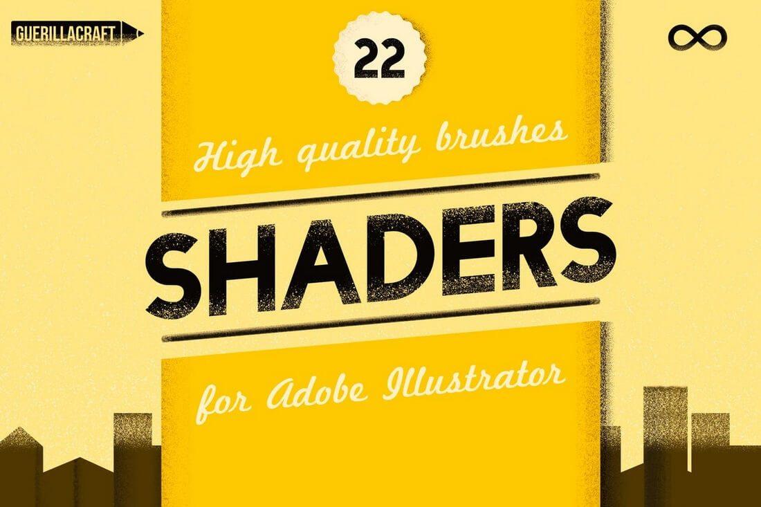Shader-Brushes-For-Adobe-Illustrator 30+ Best High-Quality Photoshop & Illustrator Brushes design tips