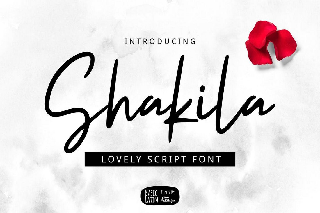 Shakila-Script-Modern-Font 100+ Beautiful Script, Brush & Calligraphy Fonts design tips