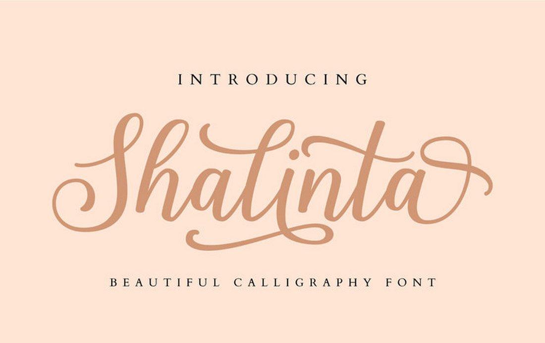 Shalinta - free creative calligraphy font