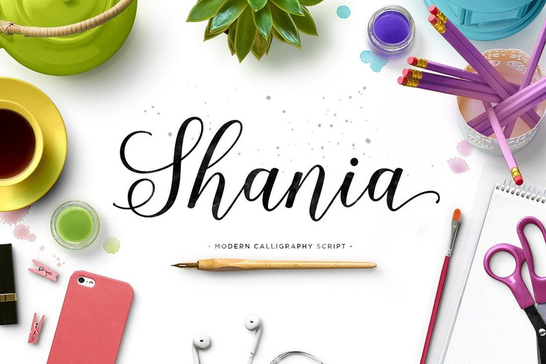 Shania-Script 100+ Beautiful Script, Brush & Calligraphy Fonts design tips