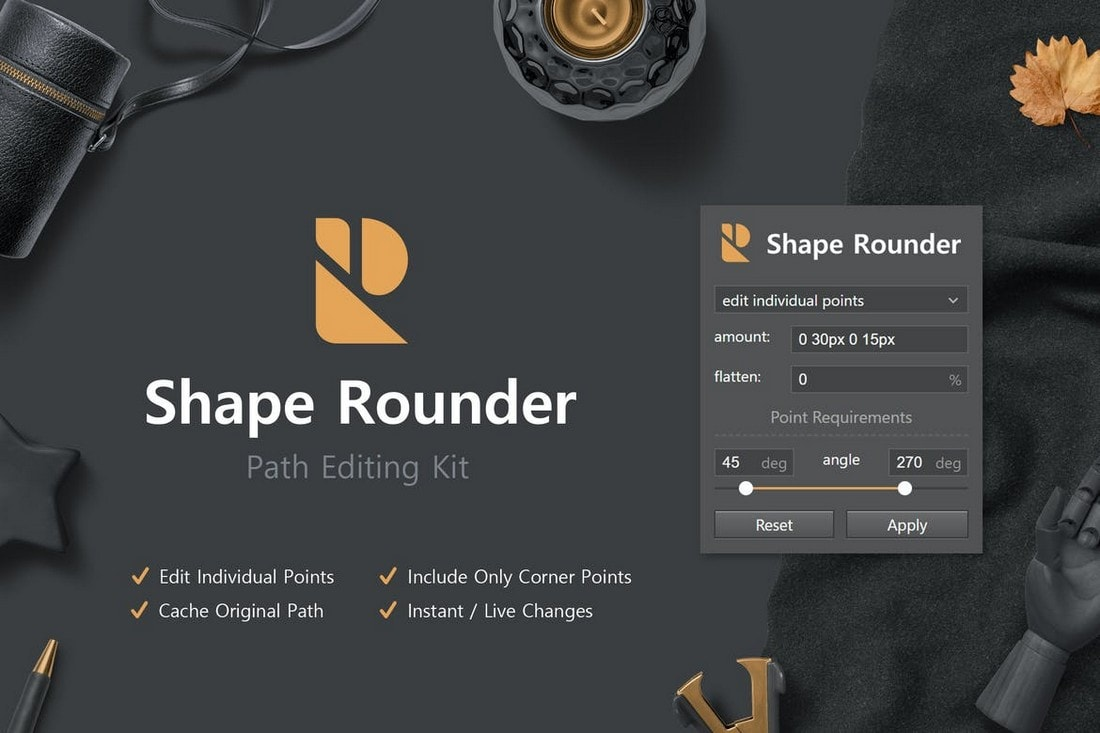 Shape Rounder - Path Editing Photoshop Plugin