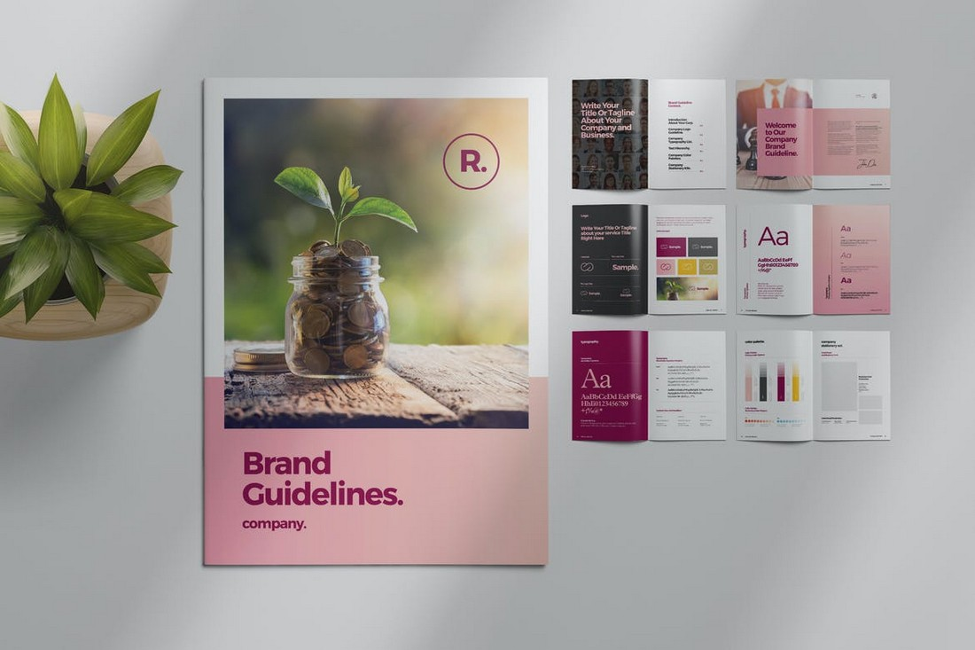Sharp-Brand-Style-Guide-Template 20+ Best Brand Manual & Style Guide Templates 2020 (Free + Premium) design tips