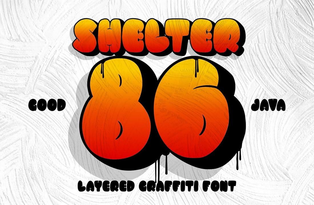 Shelter 86 - Free Chubby Graffiti Font