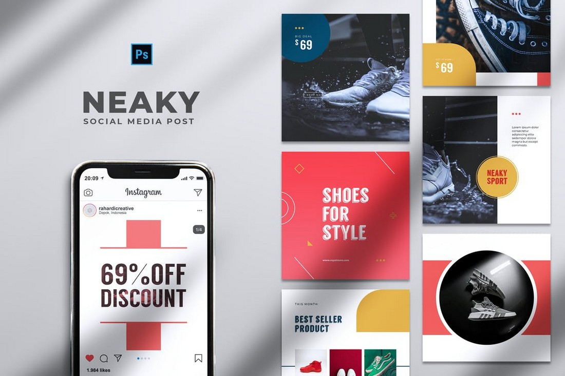 Shoes Store Promotion Instagram Templates