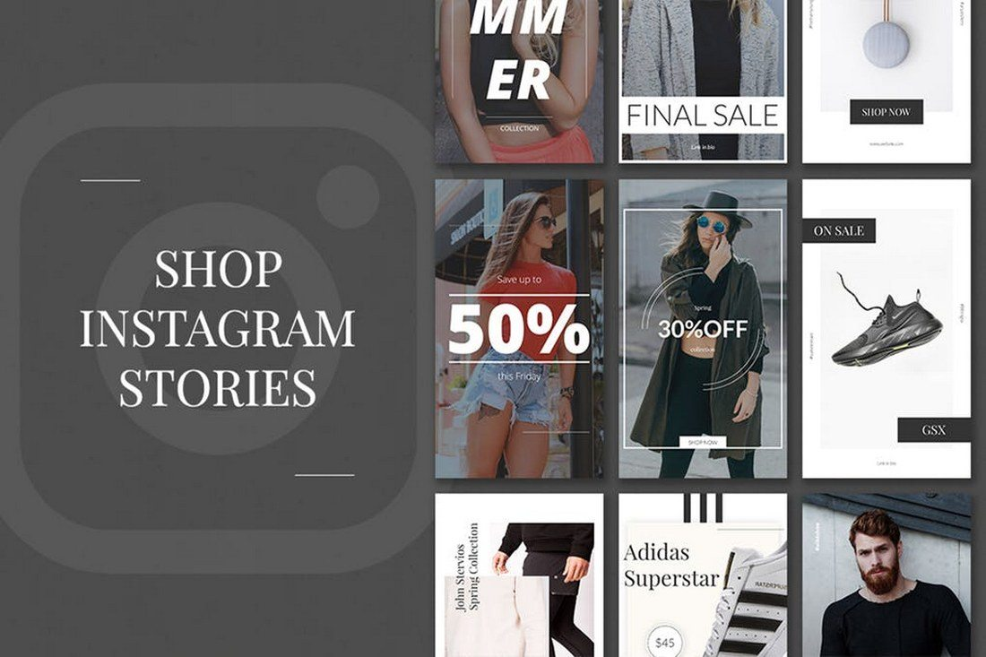 Shop-Instagram-Stories 30+ Best Instagram Templates & Banners design tips