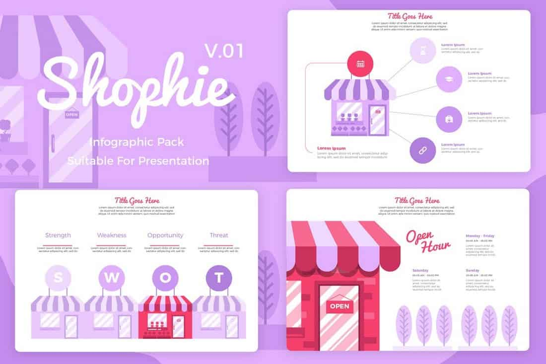 Shopie v1 - eCommerce Infographic Templates